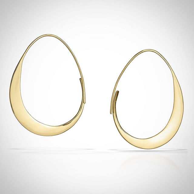 Big Moons // forged solid 14k hoops