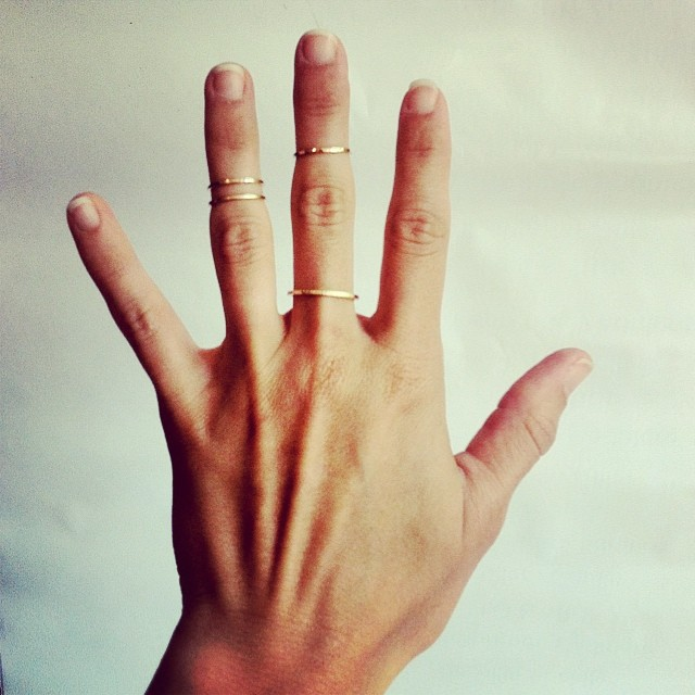 Dress your digits #emilytriplettjewelry #goldsmith #knucklerings