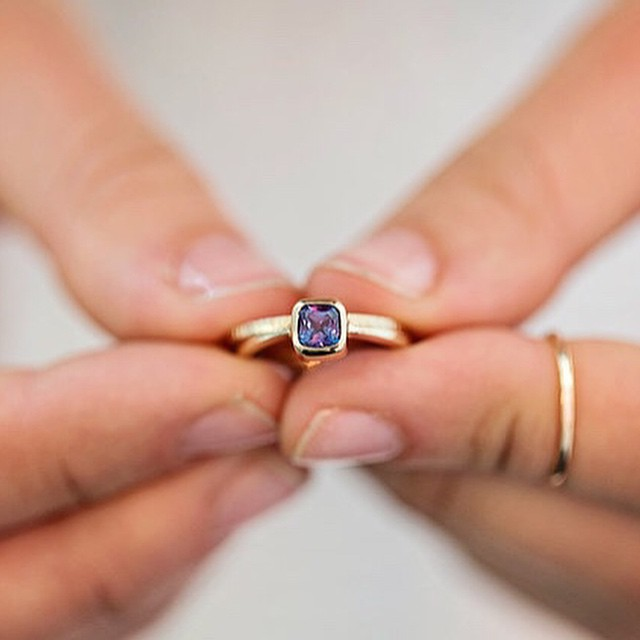Alexandrite Ring // #emilytriplettjewelry #designerjewelry #engagementring photo by @christinakarst