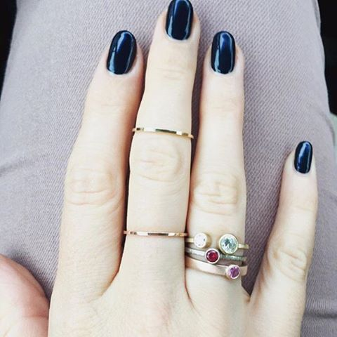 Take that old ring floating around your jewelry box and make a new one... or three! Repost from @cocokonkel #emilytriplettjewelry #modernjewelry