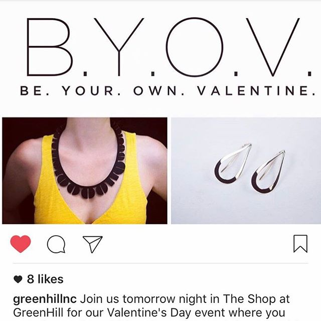 Greensboro, NC! Be your own Valentine ? tomorrow night at this fun event. I stocked some pretty pieces including lots of lovely rose gold. Repost from @greenhillnc