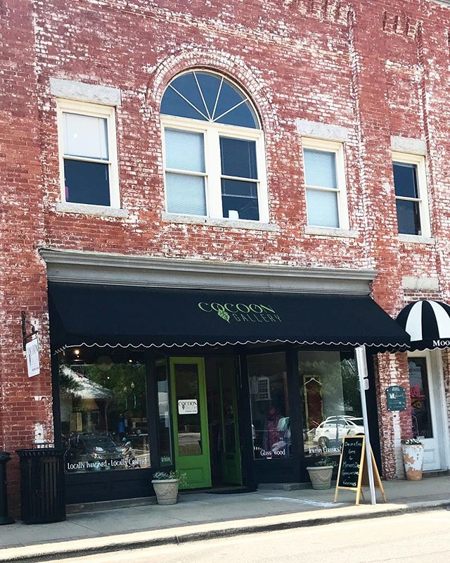 Downtown Apex is adorable and home to one of my stockists @cocoongallerync Make sure to stop in and check out their collection if you ever find yourself there
